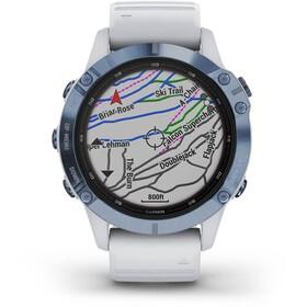 Garmin Fenix 6 Pro Solar GPS Smartwatch, blanco/azul